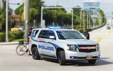 Aventura Police Car - SUV on the street