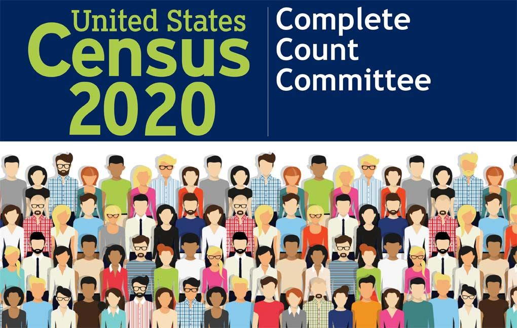This image contains an illustration of a group of people. This image contains the content Census 202
