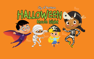 This image contains an illustration of children in Halloween costumes. This image contains the conte