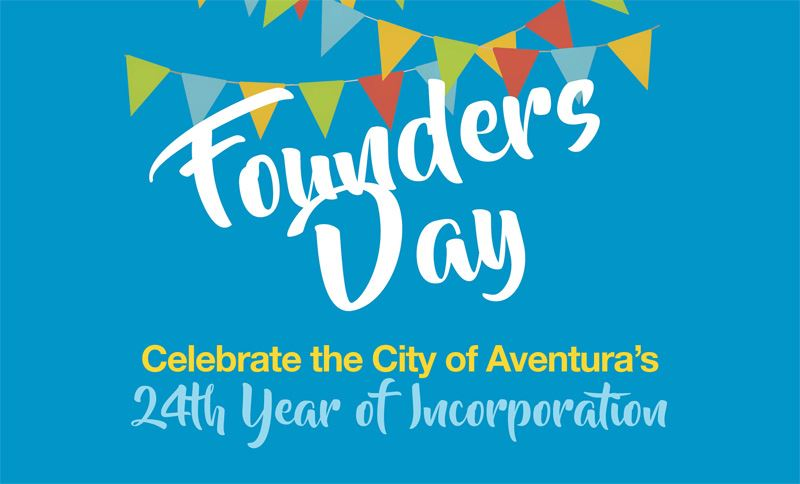 This image contains party flags on a teal background. This image contains the content Founders Day C